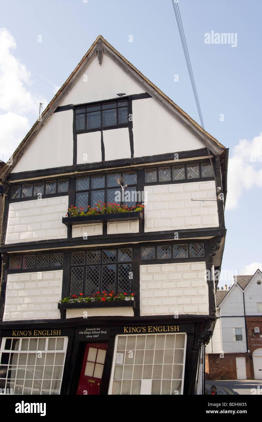 The Old Kings School Shop Palace Street Canterbury Kent England - Stock Image