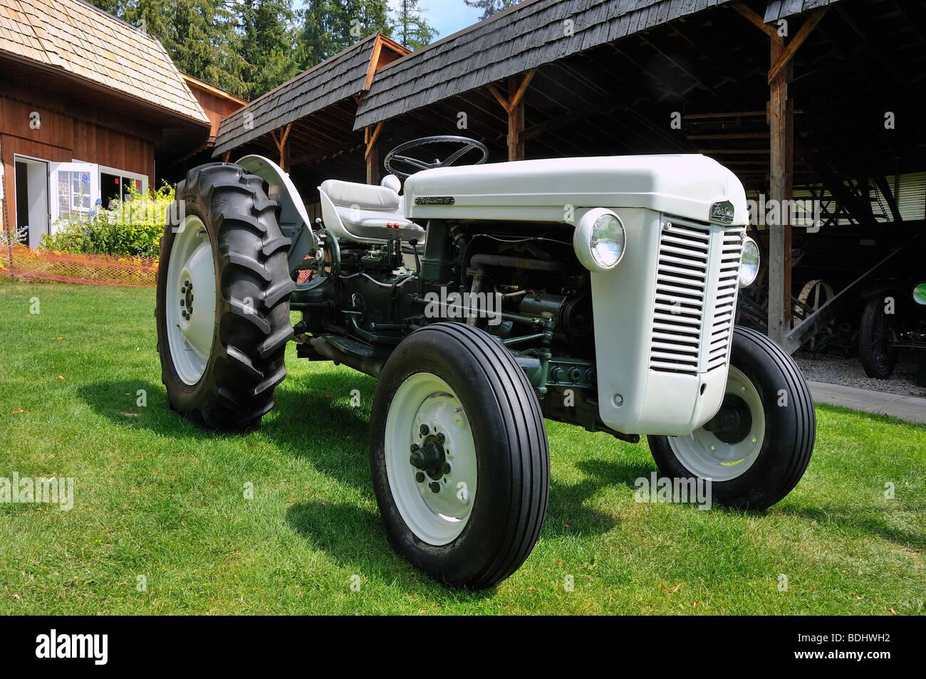 Antique Farm Tractor - Stock Image