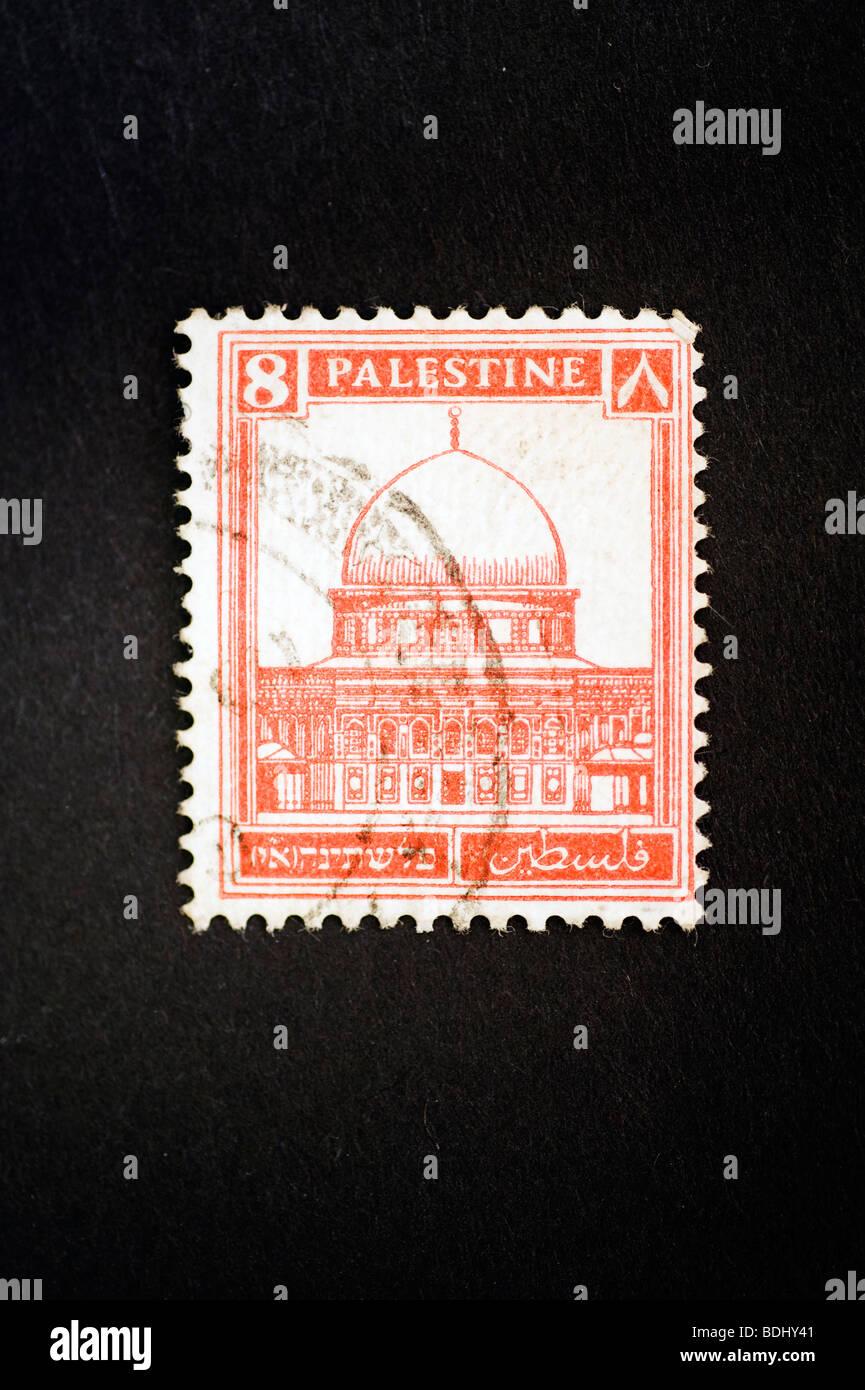 Postage stamp Palestine - Stock Image