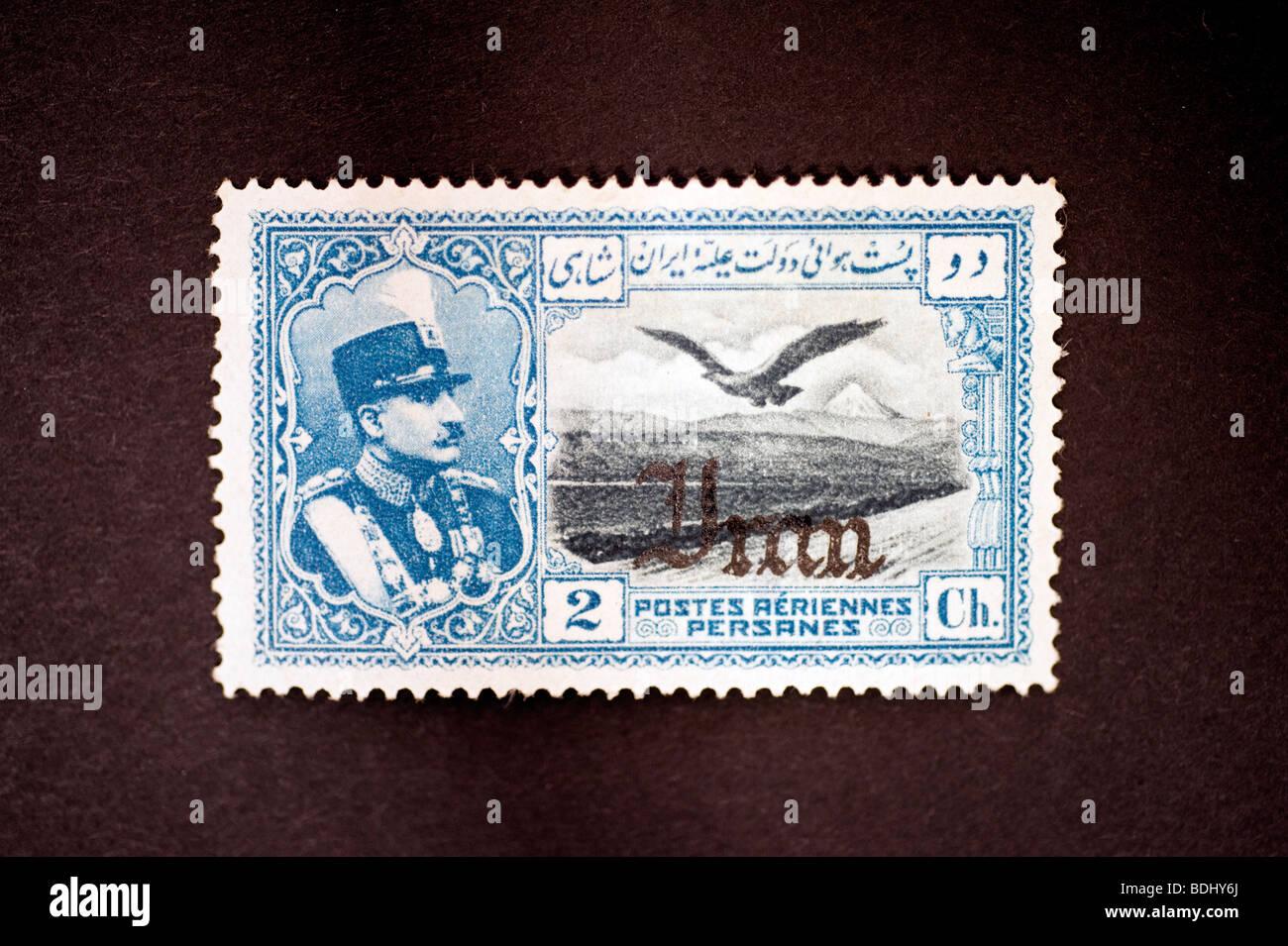 Postage stamp Persia, Iran - Stock Image