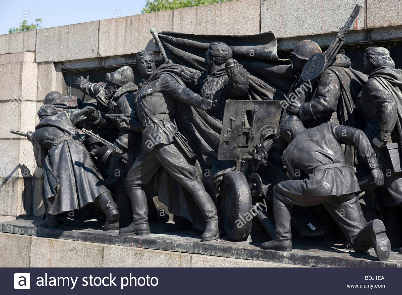 The communist-era Soviet Army memorial, Sofia. - Stock Image
