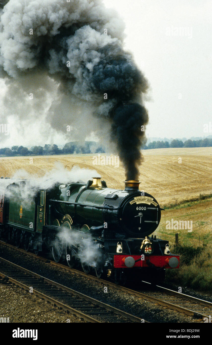 Great Western steam locomotive King George V - Stock Image