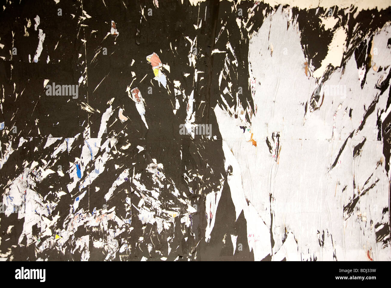 Previous Poster torn down - Stock Image