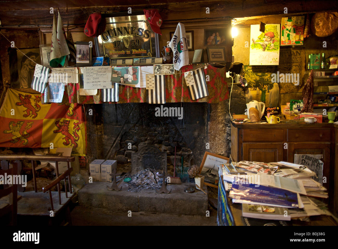 Tafarn Ty Elise, a pub in Plouye in Brittany in France from Merthyr Tydfil and is famous throughout Brittany. - Stock Image