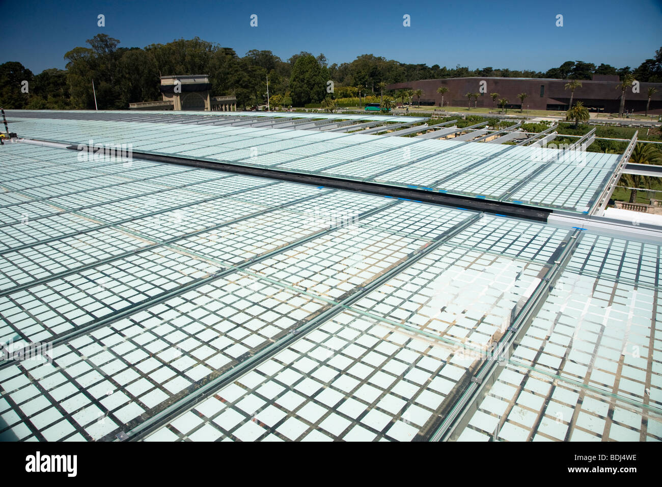 Solar Panels at California Academy of Science - Stock Image
