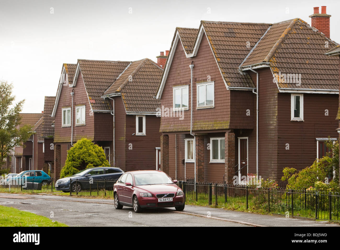 houses in Coalburn, Lanarkshire, UK being compulsory purchased to demolished to make way for another open cast coal - Stock Image
