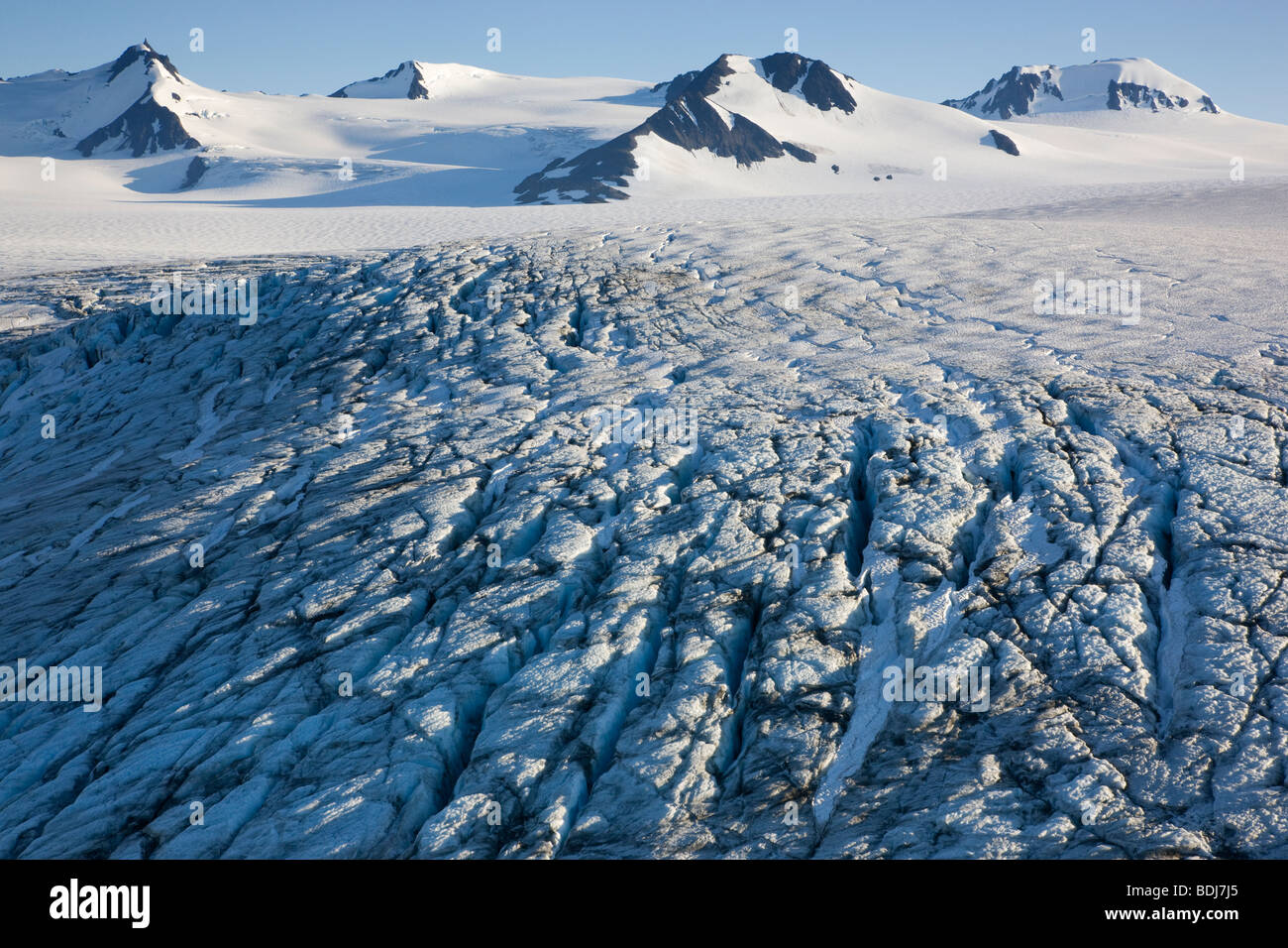 Harding Icefield, Kenai Fjords National Park, Alaska. Stock Photo