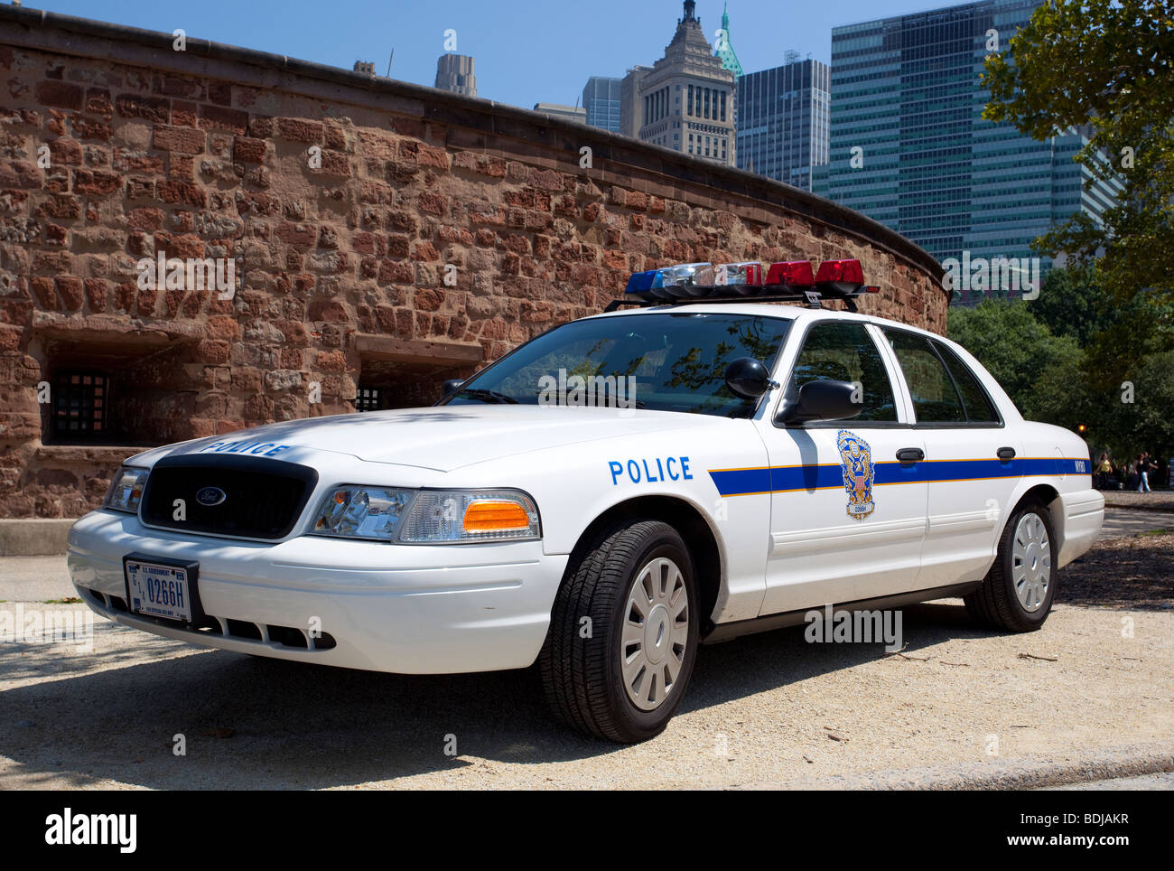 A police car parked in Manhattan, New York City, USA. Stock Photo