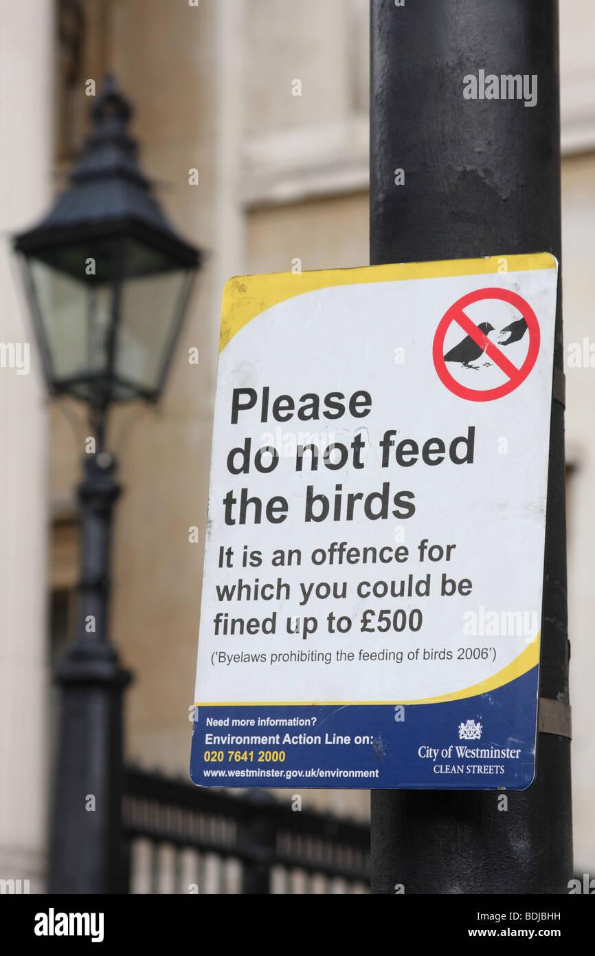 A street sign in Trafalgar Square, Westminster, London, England, U.K. - Stock Image