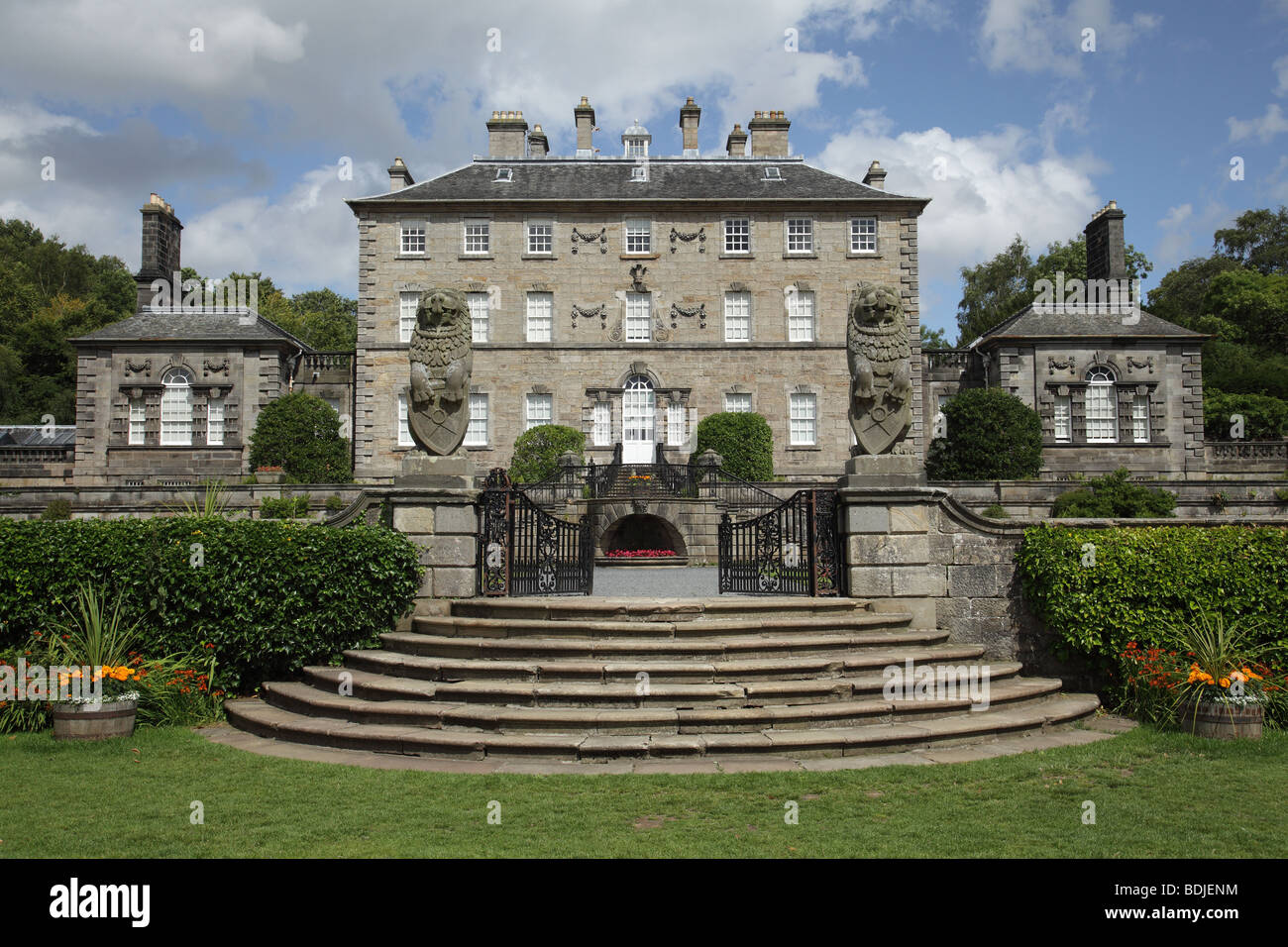 Pollok House run by the National Trust For Scotland in Pollok Country Park, Glasgow, Scotland, UK - Stock Image