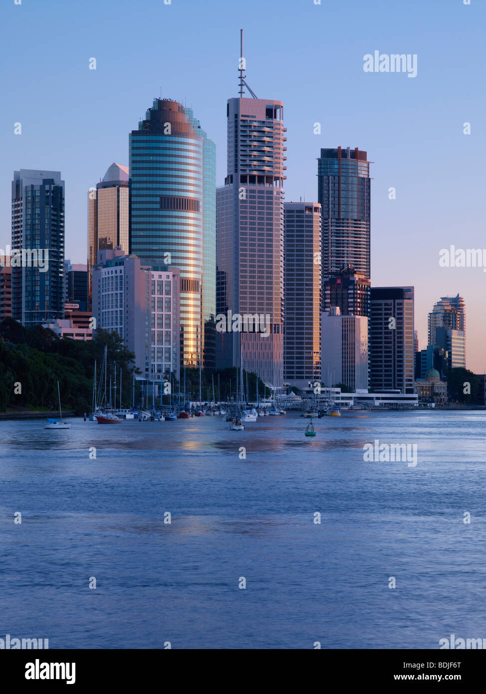 Brisbane city Australia at dawn - Stock Image