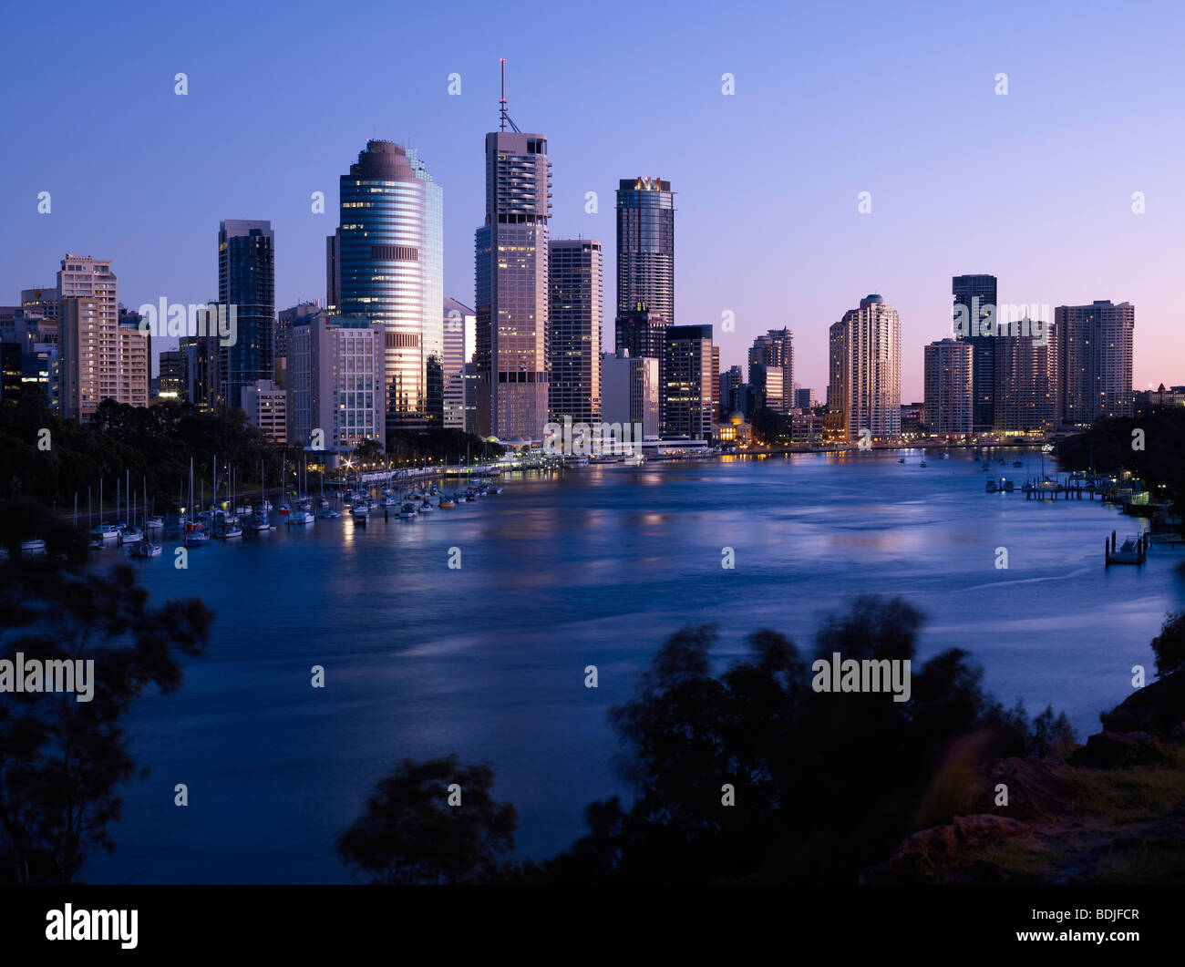 Brisbane city Australia at sunrise - Stock Image