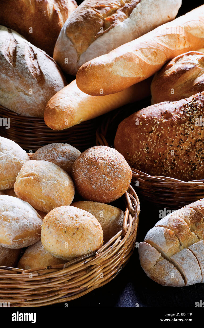 Assorted fresh Breads - Stock Image