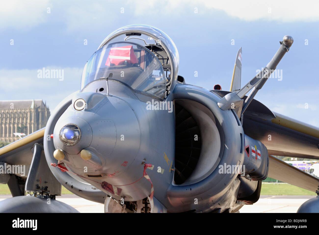 A British Aerospace Harrier GR7 Cockpit - Stock Image