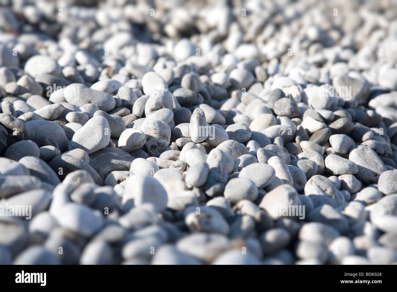 Small pebbles. Shallow dof effect. - Stock Image