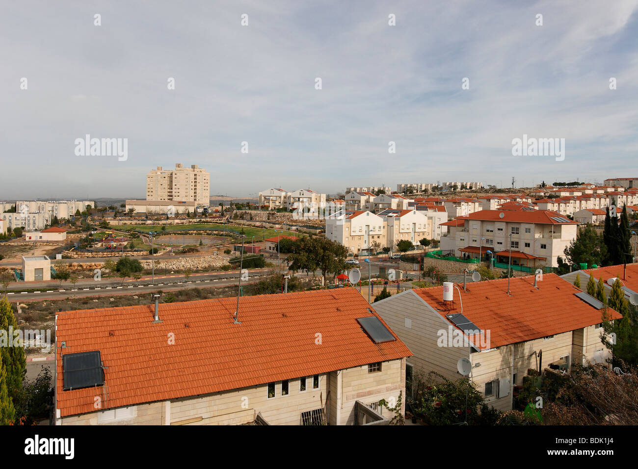 Samaria, Ariel founded in 1978, a city since 1998 - Stock Image