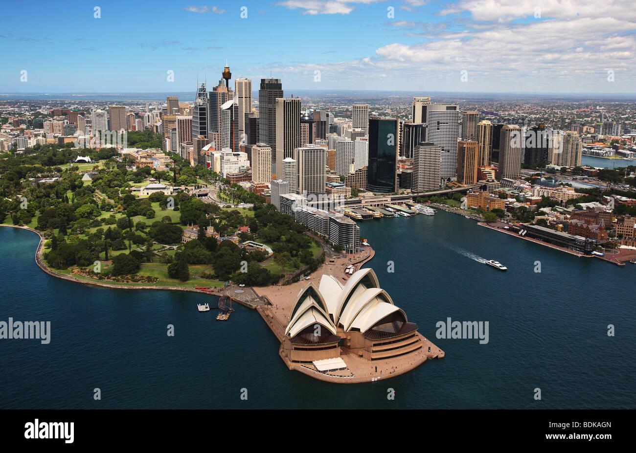 Sydney Harbour Australia aerial - Stock Image