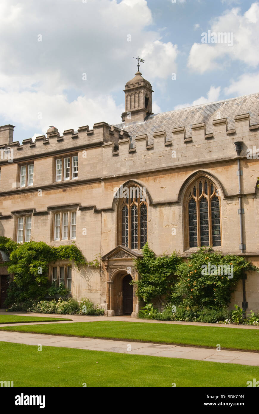 View of the exterior of the chapel, Jesus College Oxford England UK - Stock Image