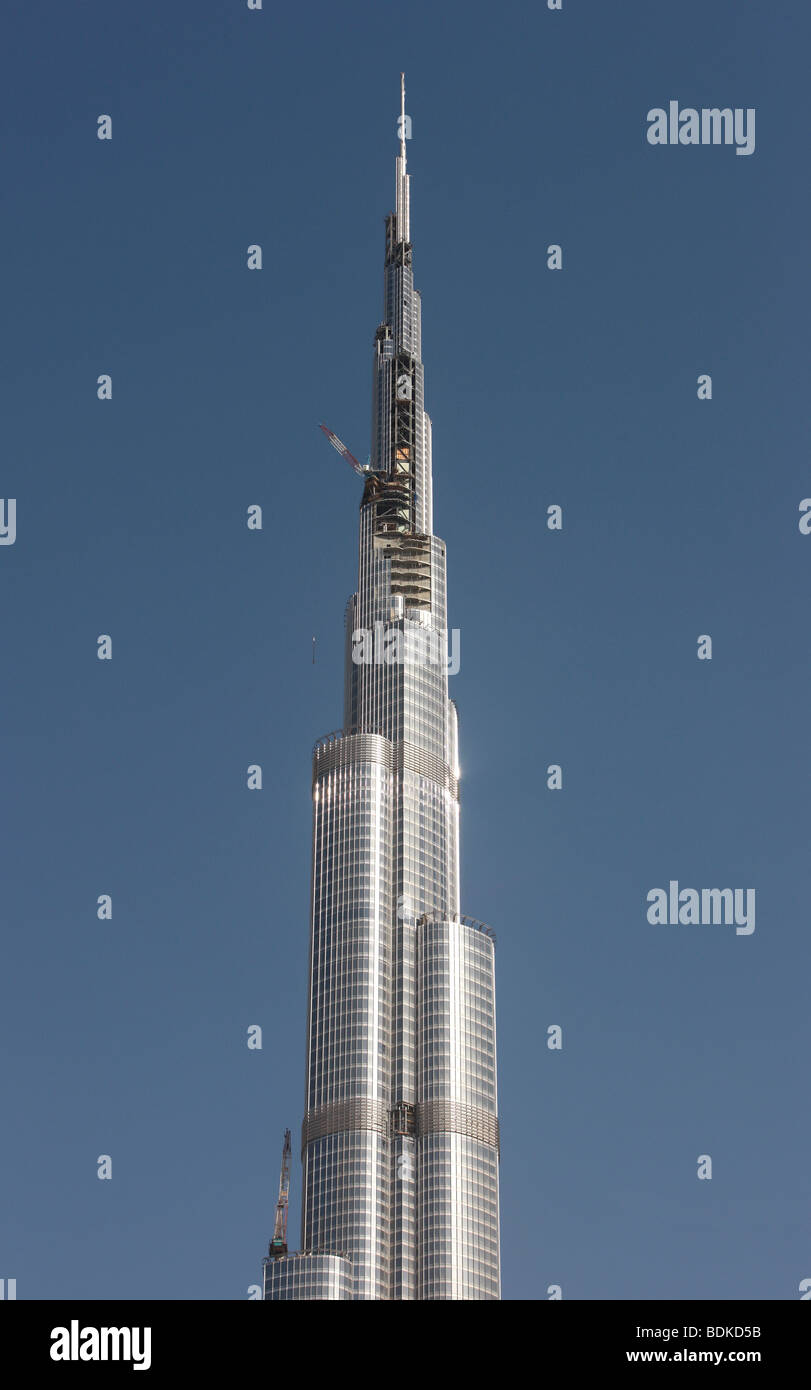 Burj Dubai, the highest building in the whole world, Dubai, United Arab Emirates - Stock Image
