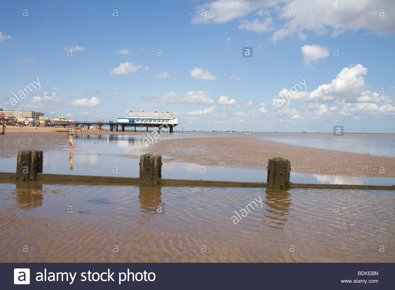 Cleethorpes on the Lincolnshire coast - Stock Image