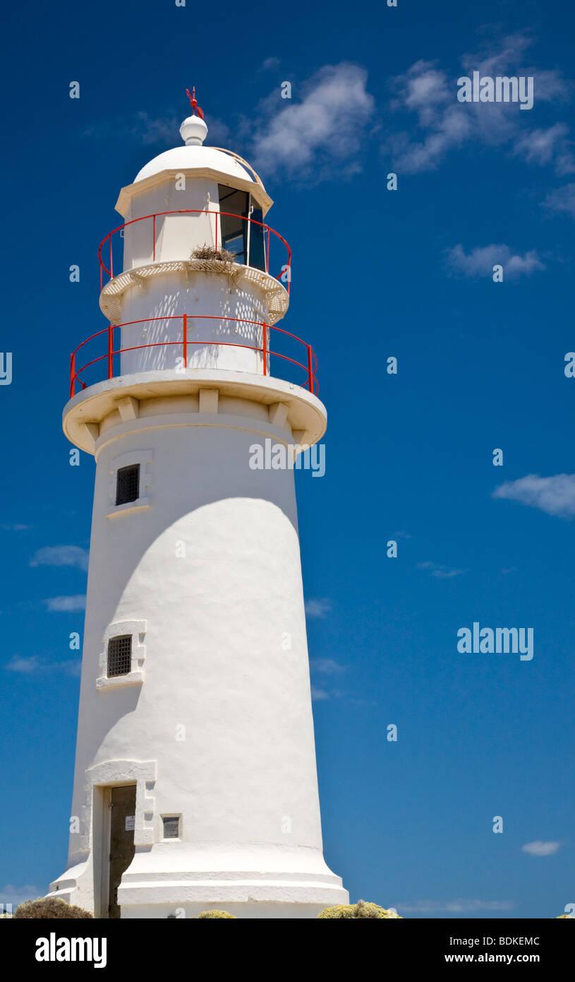 Corny Point Lighthouse Yorke Peninsula, South Australia - Stock Image