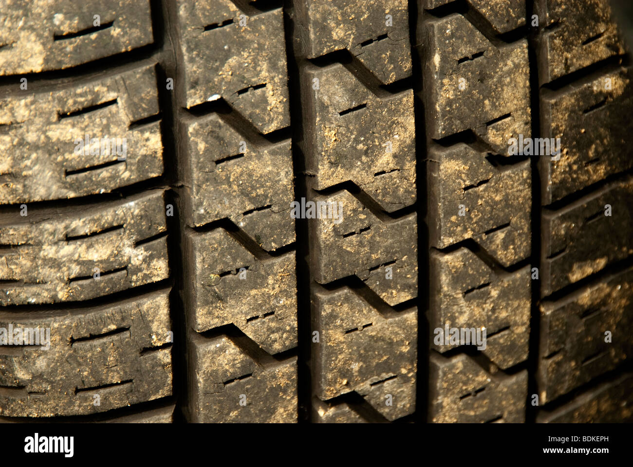 mud on tyre - Stock Image