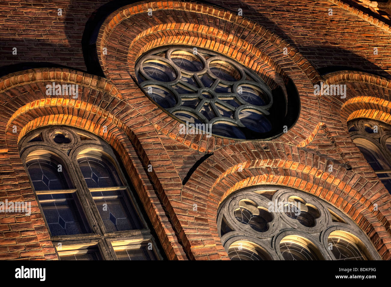 Church windows - Stock Image