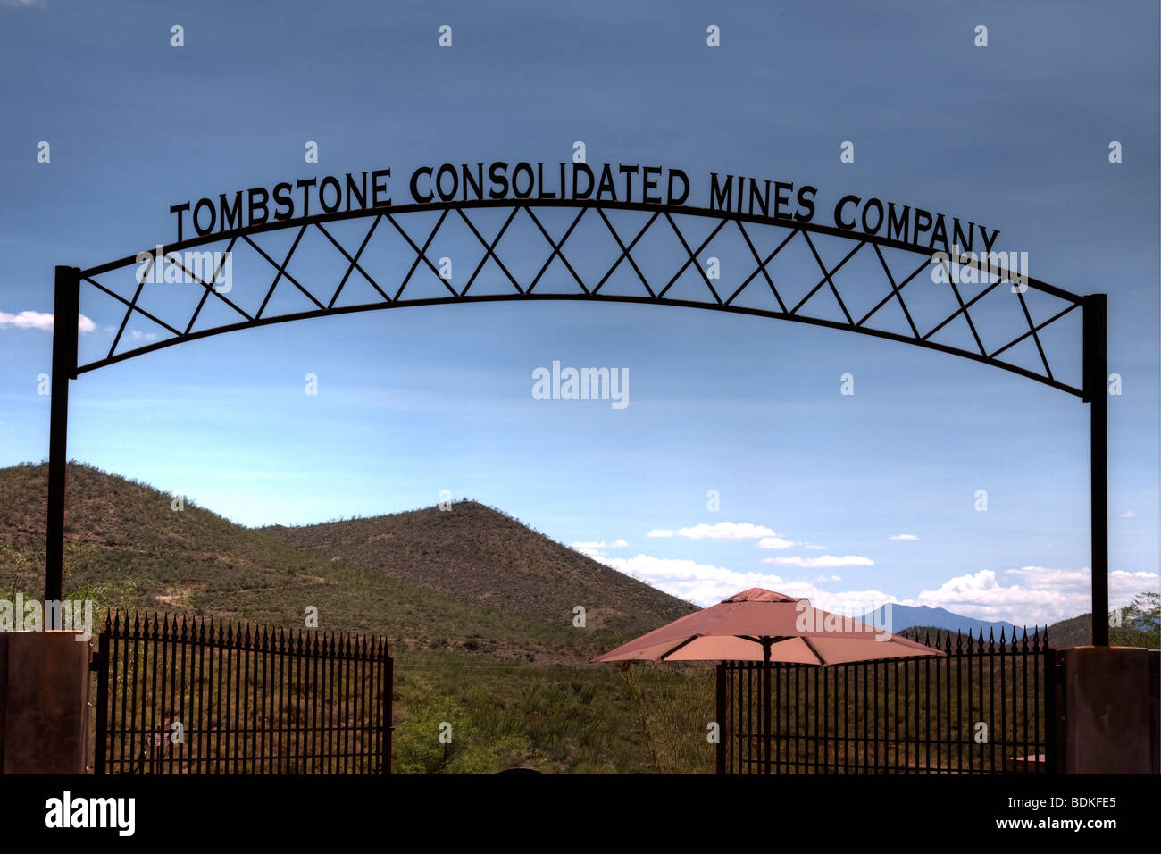 Tombstone Consolidated Mines Company in Tombstone Arizona - Stock Image
