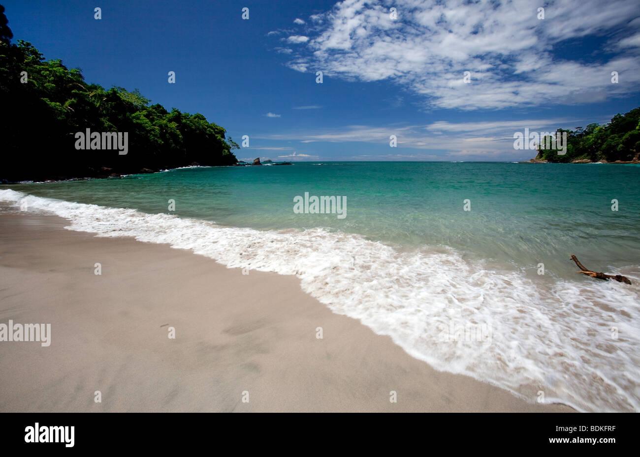 Tropical Beach in Costa Rica - Stock Image
