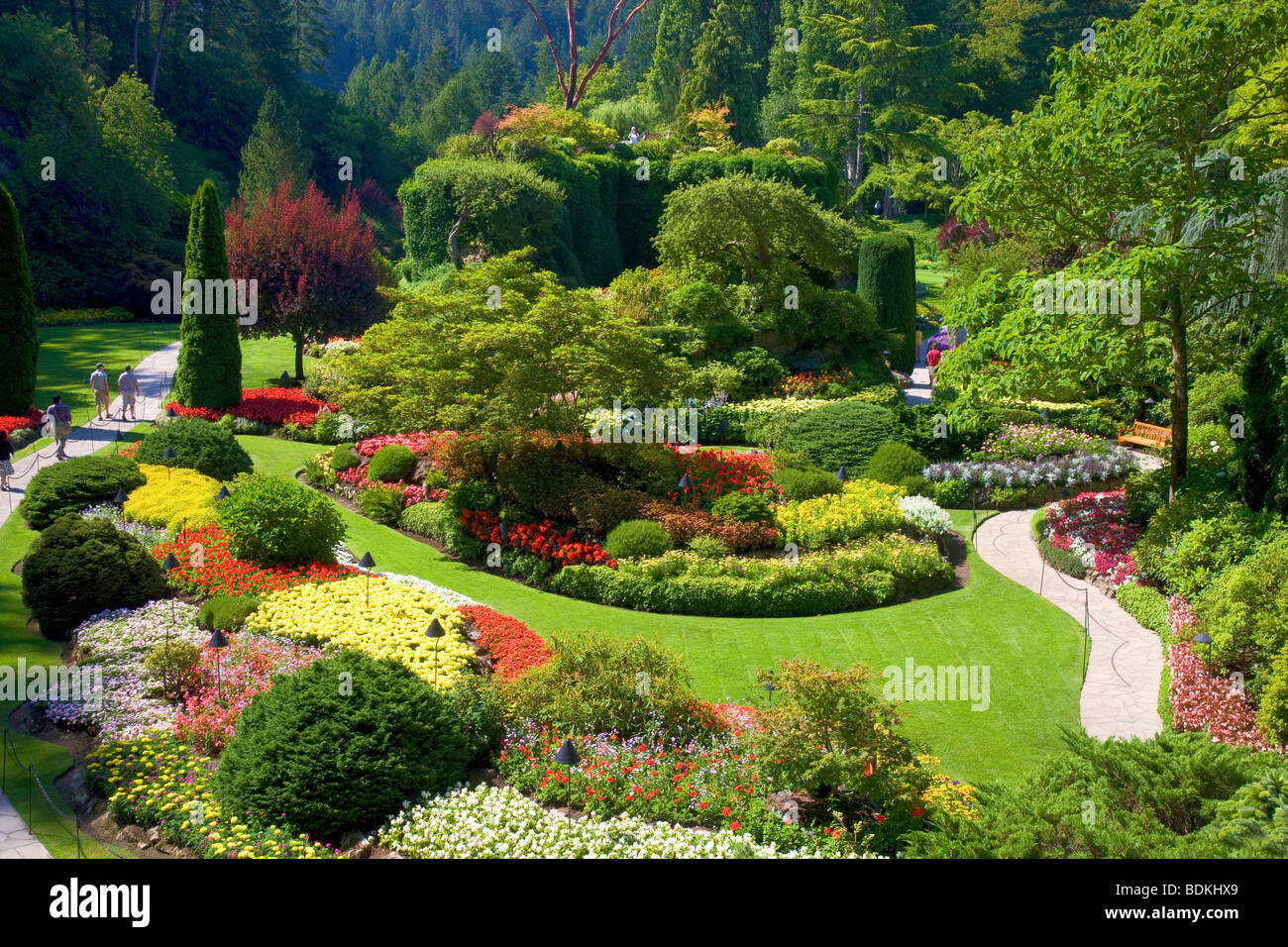 Butchart gardens victoria canada stock photos butchart gardens sunken garden at the butchart gardens victoria vancouver island british columbia canada thecheapjerseys Images
