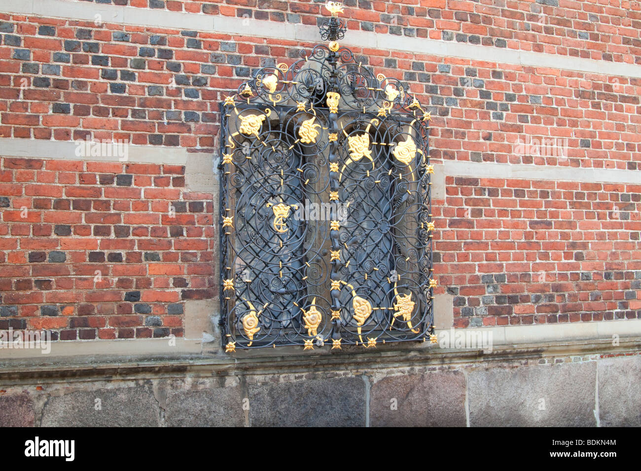 Window at Frederiksborg Castle, Hilleroed, North Zealand, Denmark. - Stock Image