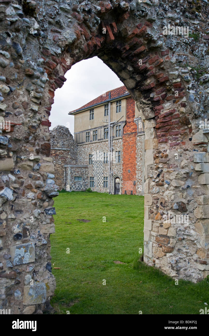 Leiston Abbey ruins, Suffolk, England - Stock Image