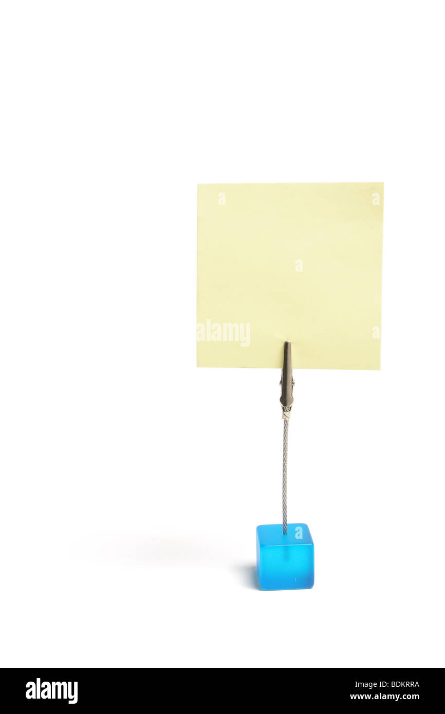 Memo Clip Holder - Stock Image