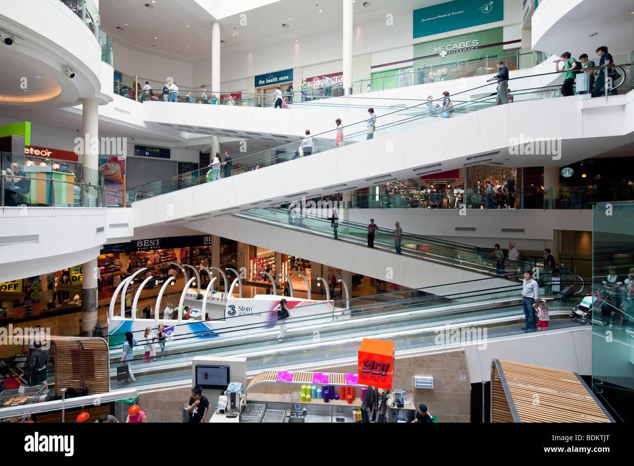 Dundrum Shopping Centre, Dublin, Ireland - Stock Image