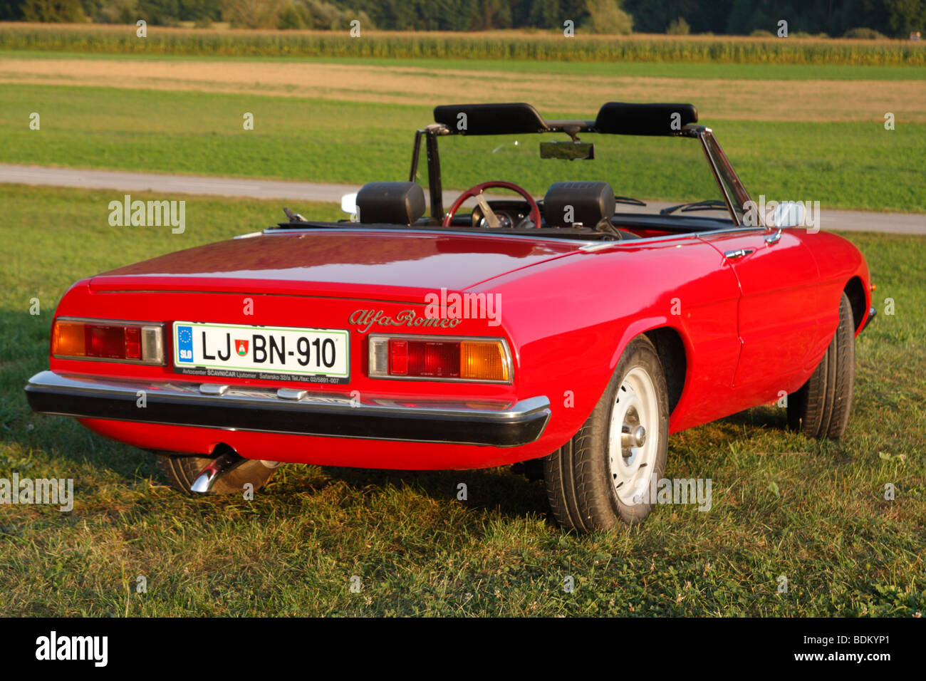 Alfa Romeo Spider 1600 Junior sports car. Year of