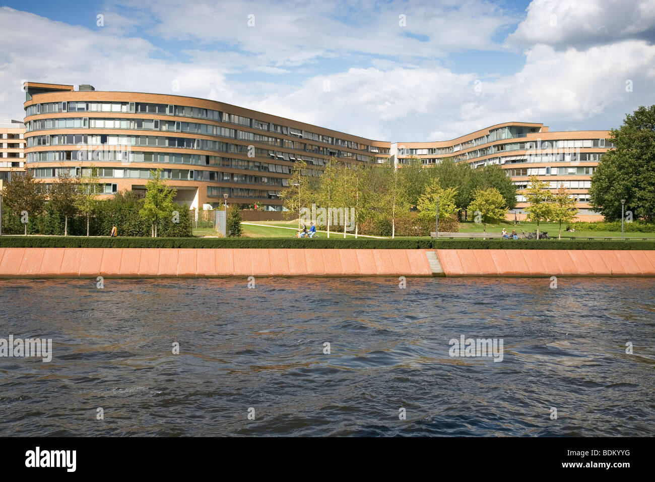 Moabiter Werder - Residential area for Government Employees, architect Georg Bumiller, Berlin, Germany - Stock Image