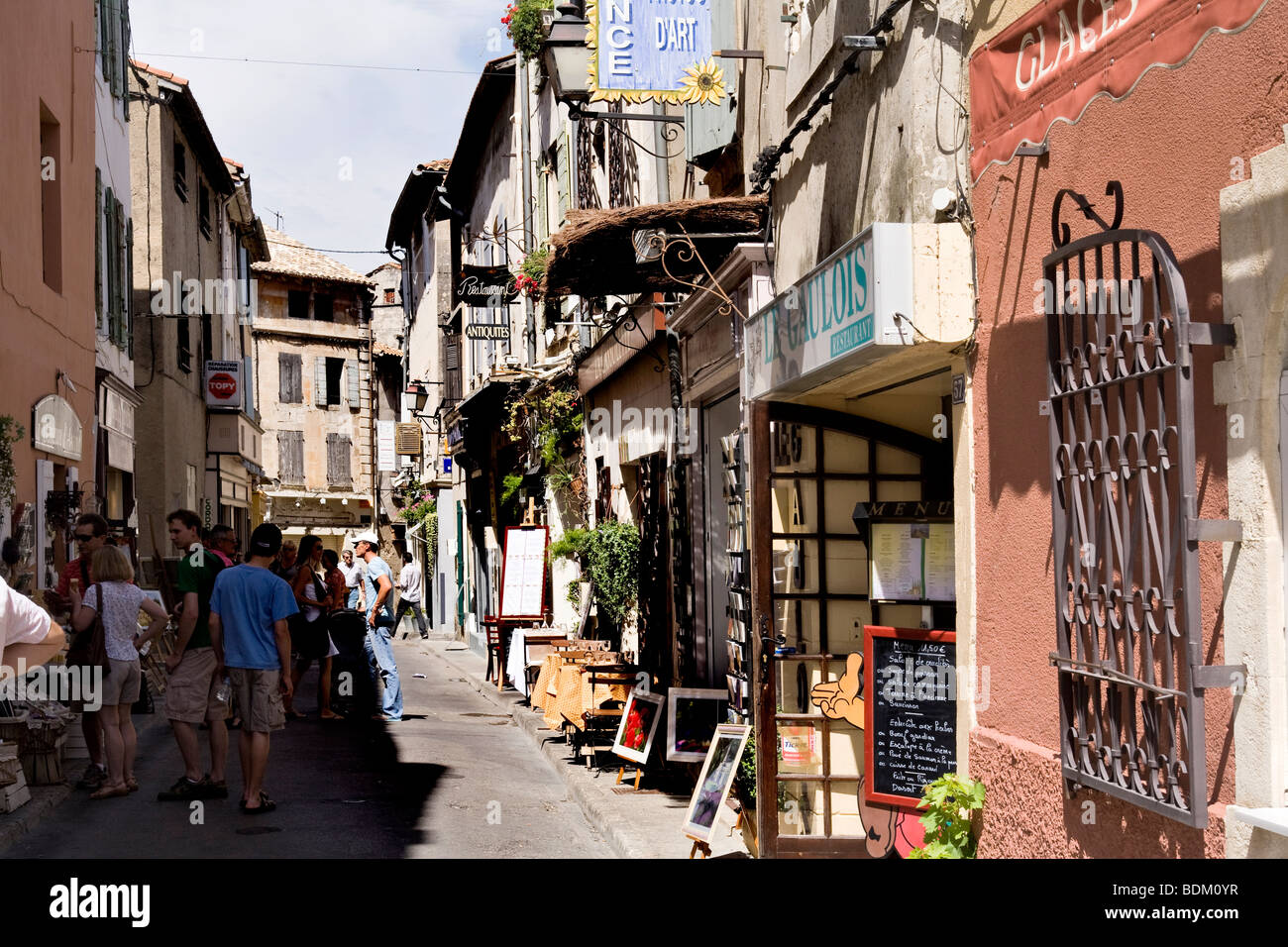 Street In St Remy Provence France Stock Photo Alamy