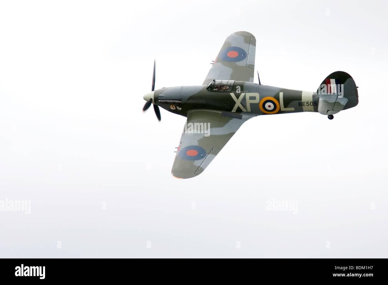 A Restored Hawker Hurricane - Stock Image