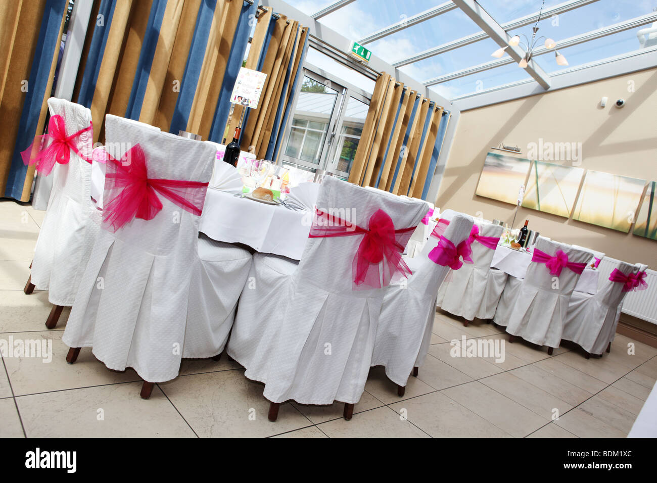 Wedding Chair Covers High Resolution Stock Photography And Images Alamy