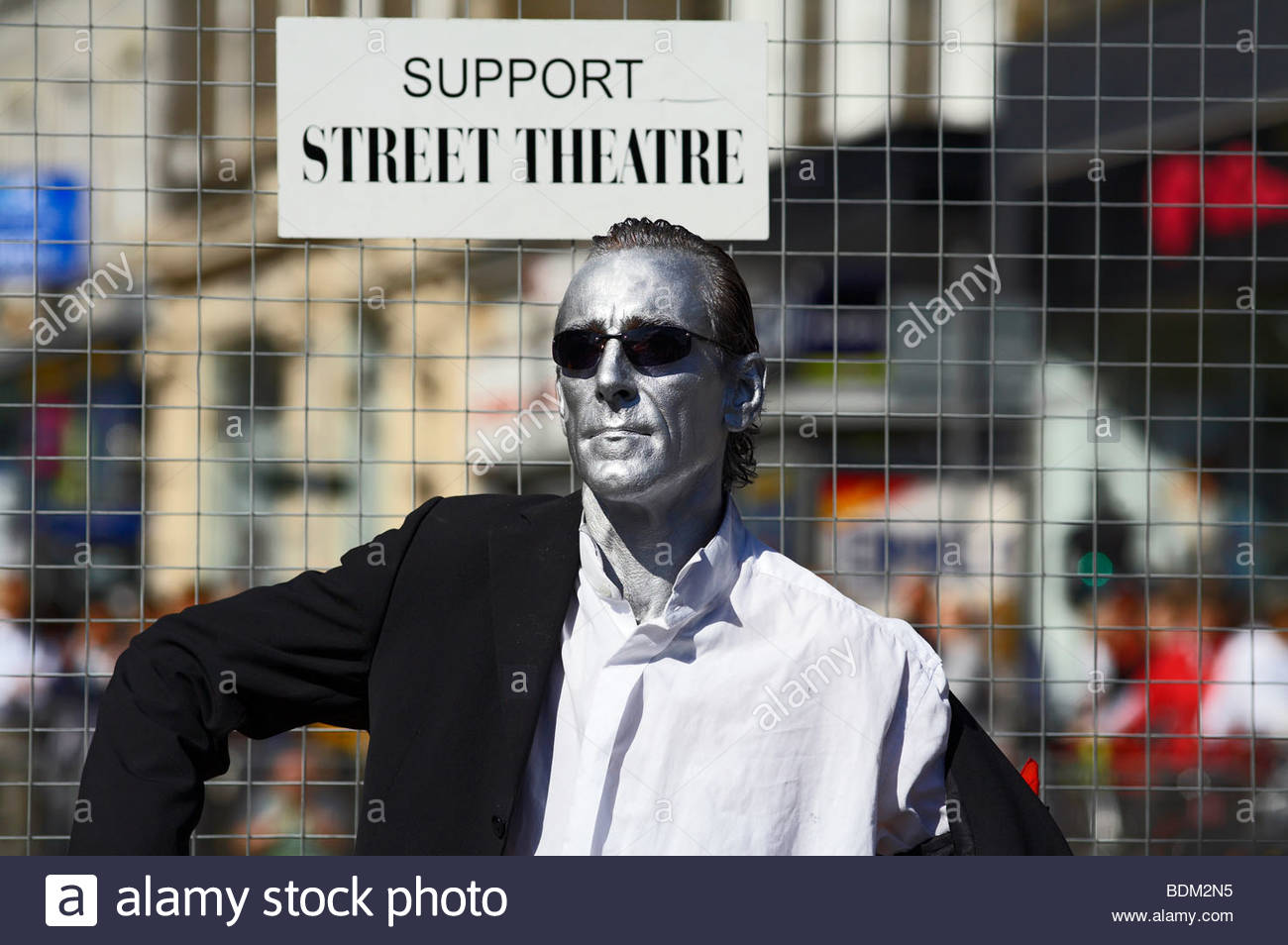 Mime Artist, Edinburgh festival Scotland - Stock Image