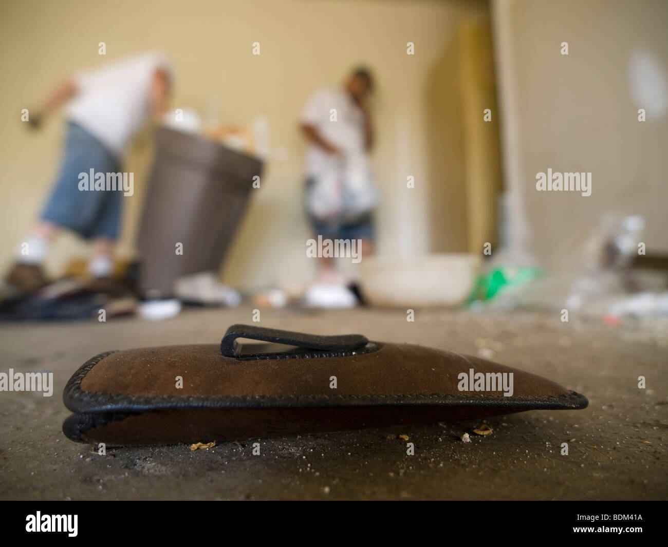 Property of the former owners, left behind in a bank-owned foreclosed house in Denair, California, United States - Stock Image
