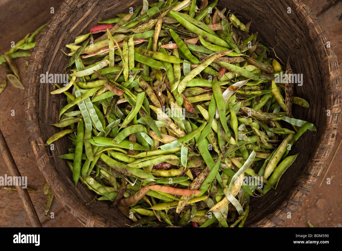 peas for sale in the market, Kigali, Rwanda - Stock Image