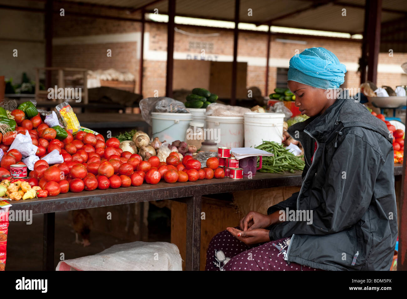 market, Kigali, Rwanda - Stock Image