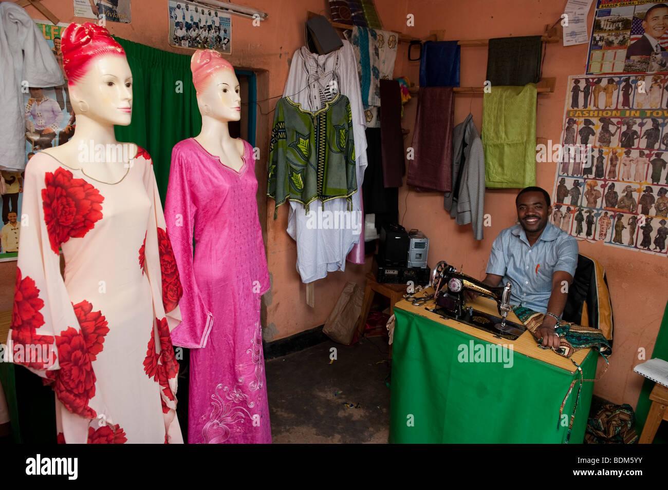 Tailor, Kigali, Rwanda - Stock Image
