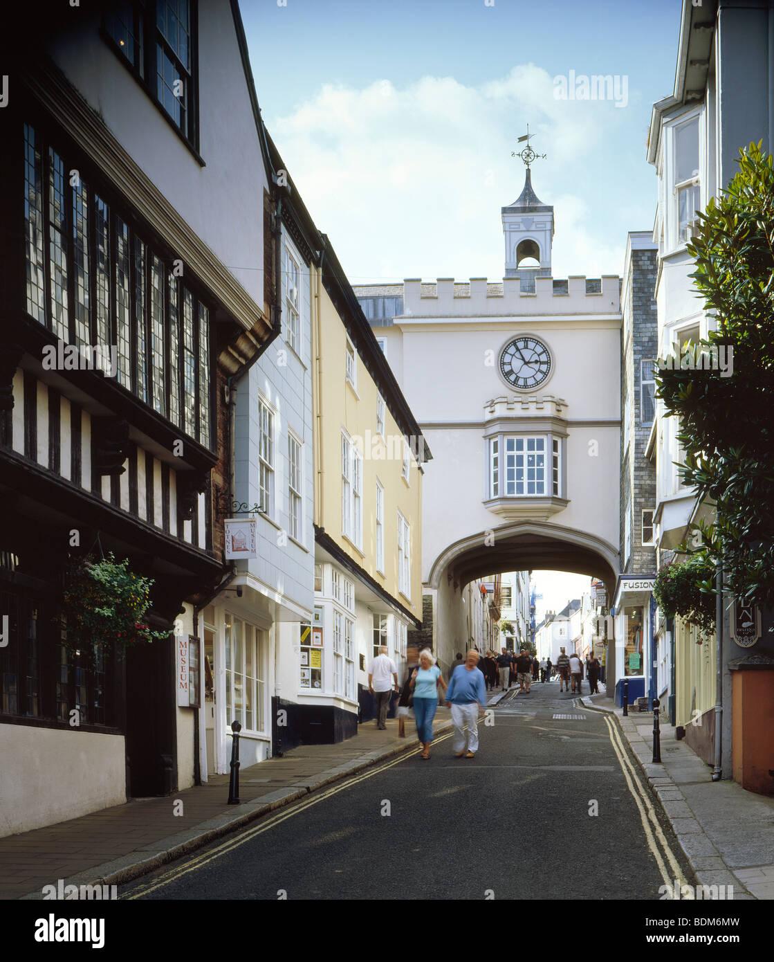 Fore Street Totnes Devon - Stock Image