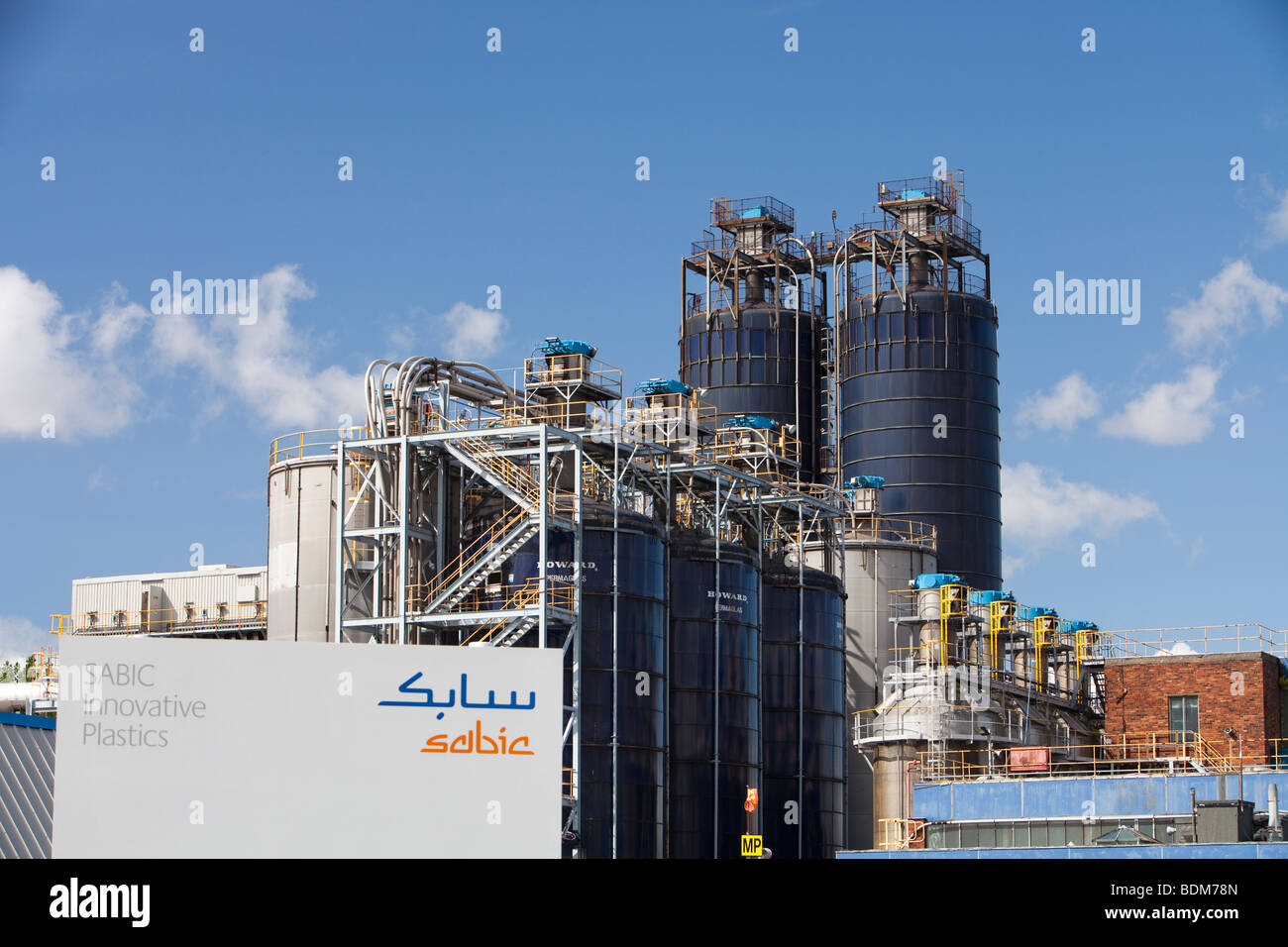 The Sabic plastics factory on the industrial complext at