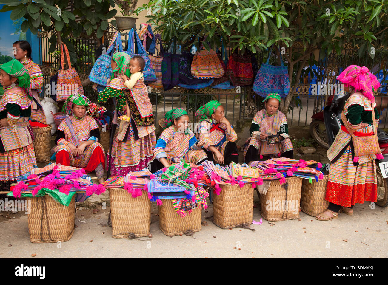 Flower Hmong tribe from northern Vietnam - Stock Image