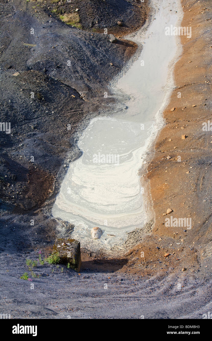 Contaminated water at Westfield open cast coal mine, now abandoned, near Ballingry in Perth and Kinross, scotland, - Stock Image