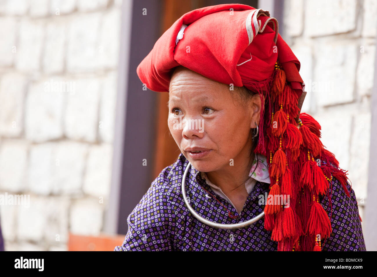 Hmong lady in Sapa, North Vietnam - Stock Image