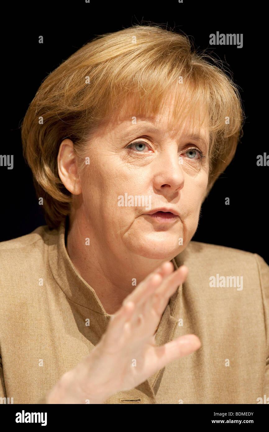 Angela Merkel, CDU Christian Democratic Union, Federal Chancellor and CDU Chairwoman - Stock Image